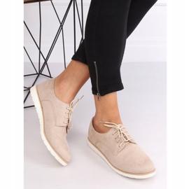 Loafers for women lace-up beige T297 Beige 3