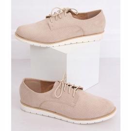 Loafers for women lace-up beige T297 Beige 2