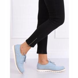 Women's moccasins lace-up blue T297 Blue 2
