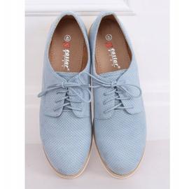 Women's moccasins lace-up blue T297 Blue 1