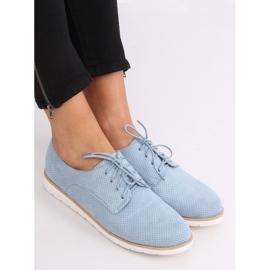 Women's moccasins lace-up blue T297 Blue 3