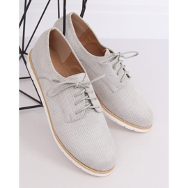 Loafers for women lace-up gray T297 Gray grey 3