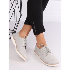 Loafers for women lace-up gray T297 Gray grey 1