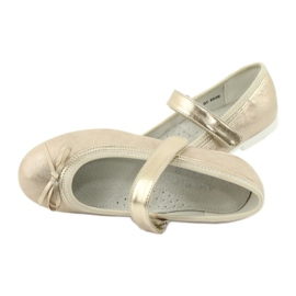 American Club GC02 golden ballerinas with a bow beige 5