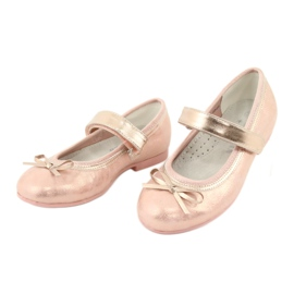 Golden Rose Ballerinas with American Club bow GC02 / 20 pink yellow 3