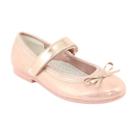 Golden Rose Ballerinas with the American Club GC02 bow pink 1