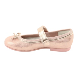 Golden Rose Ballerinas with a bow American Club GC03 / 20 pink yellow 2