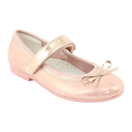 Golden Rose Ballerinas with a bow American Club GC03 / 20 pink yellow 1