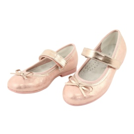 Golden Rose Ballerinas with a bow American Club GC03 / 20 pink yellow 3