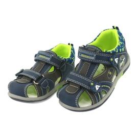 American Club boys sandals DR09 / 20 navy blue grey green 1