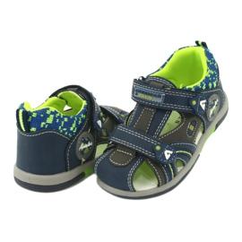 American Club boys sandals DR09 / 20 navy blue grey green 2