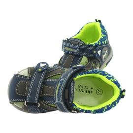 American Club boys sandals DR09 / 20 navy blue grey green 4