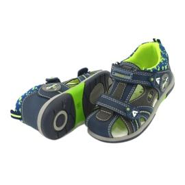 American Club boys sandals DR09 / 20 navy blue grey green 3