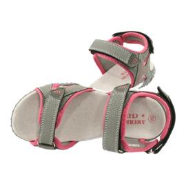 American Club RL26 / 20 gray / peach sandals 4