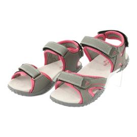 American Club RL26 / 20 gray / peach sandals 2