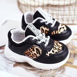 FRROCK Black Penny Leopard Print Children's Sport Shoes white 1