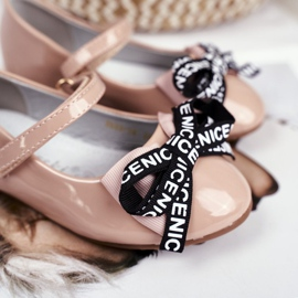 S.Barski Bar Beige Children's Ballerinas Mindi Velcro 4
