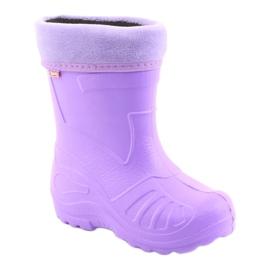 Befado children's purple rain boots 162Y102 violet 1