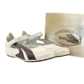 Ren But Ren-But Leather Ballerinas on sale white multicolored 5