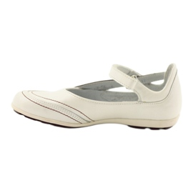Ren But Ren-But Leather Ballerinas on sale white multicolored 3