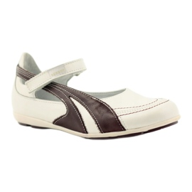 Ren But Ren-But Leather Ballerinas on sale white multicolored 1