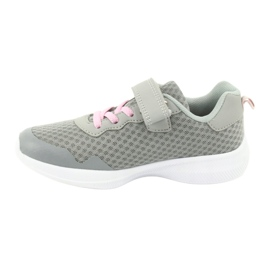 Evento Velcro sports shoes 20DZ55-2312 pink grey 1