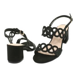 Black sandals with cubic zirconia Filippo DS1355 / 20 BK 3