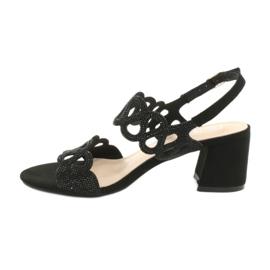 Black sandals with cubic zirconia Filippo DS1355 / 20 BK 1