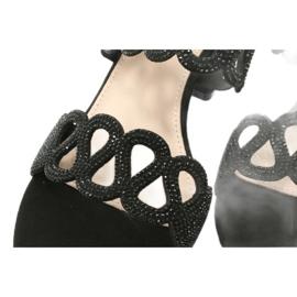 Black sandals with cubic zirconia Filippo DS1355 / 20 BK 5