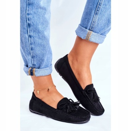 EVE Women's Loafers Suede 20PB35-2003 Black Donna Mia 2