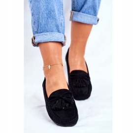 EVE Women's Loafers Suede 20PB35-2003 Black Donna Mia 3