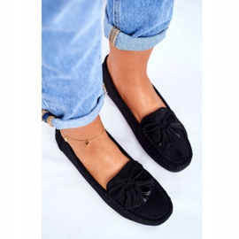 EVE Women's Loafers Suede 20PB35-2003 Black Donna Mia 1