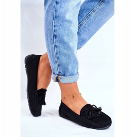 EVE Women's Loafers Suede 20PB35-2003 Black Donna Mia 4