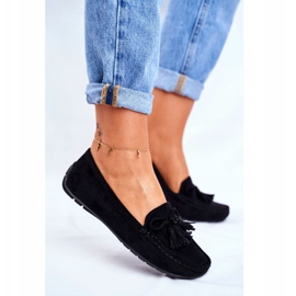 EVE Women's Loafers Suede 20PB35-2003 Black Donna Mia 5