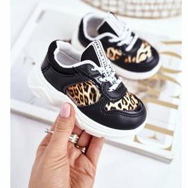 FRROCK Black Penny Leopard Print Children's Sport Shoes white 2