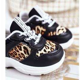 FRROCK Black Penny Leopard Print Children's Sport Shoes white 3
