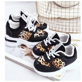 FRROCK Black Penny Leopard Print Children's Sport Shoes white 5
