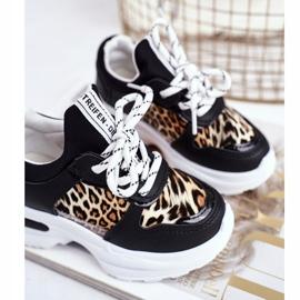 FRROCK Black Penny Leopard Print Children's Sport Shoes white 4