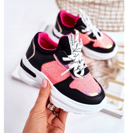 FRROCK Black Matylda Children's Sport Shoes with Glitter multicolored 3