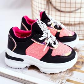 FRROCK Black Matylda Children's Sport Shoes with Glitter multicolored 2