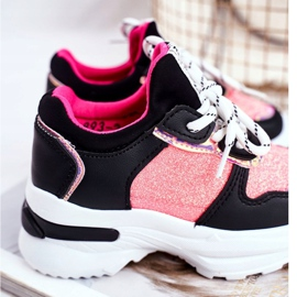 FRROCK Black Matylda Children's Sport Shoes with Glitter multicolored 5