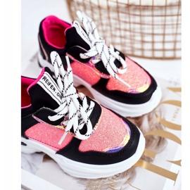 FRROCK Black Matylda Children's Sport Shoes with Glitter multicolored 4