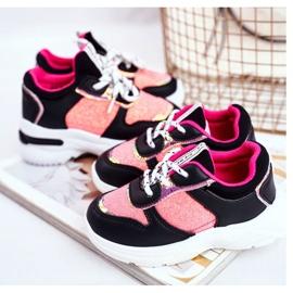 FRROCK Black Matylda Children's Sport Shoes with Glitter multicolored 6