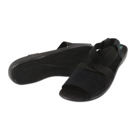 Comfortable black women's sandals Adanex 17498 2