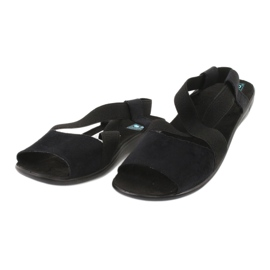 Comfortable black women's sandals Adanex 17498 1