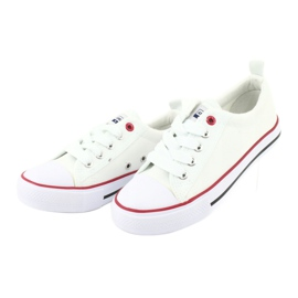 American Club White American LH25 Knotted Sneakers 4