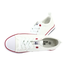 American Club White American LH25 Knotted Sneakers 6