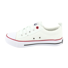 American Club White American LH25 Knotted Sneakers 2