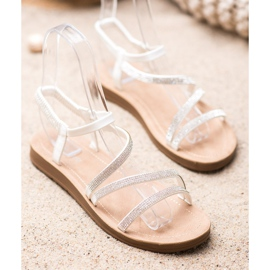 Sea Elves Elegant Slip-on Sandals white 2