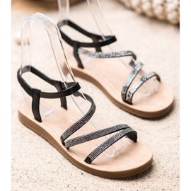 Sea Elves Elegant Slip-on Sandals black 2